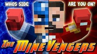 Minecraft MineVengers - CAPTAIN AMERICA, CIVIL WAR!!!!