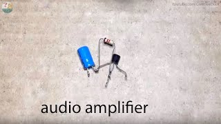 Mini Audio Amplifier cicuit using Transistor
