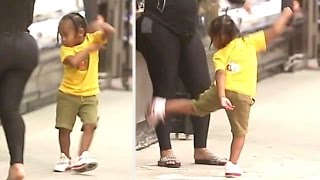 King Cairo Puts On Karate/Dance Display As Blac Chyna Cheers Him On