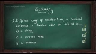 Maysoor: Arabic, Lesson 02 (Nominal sentence)