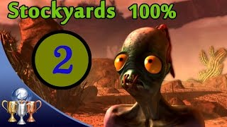Oddworld New 'N' Tasty Speedrun Walkthrough (100%) - Chapter 2 Stockyards (All Mudokon & Secrets)