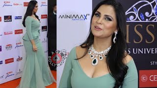 Gorgeous Lara Dutta In TIGHT Body Fit Gown At Red Carpet Of  Miss Diva 2018