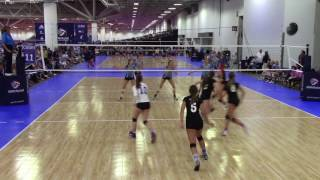 Madison Beebe #15 - Class of 2019 - A4 Volley 16 Purple - Junior Nationals 2017 Highlights