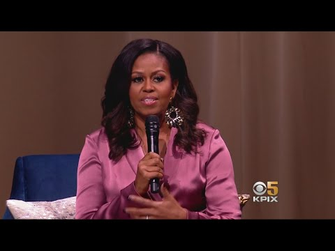 Former First Lady Michelle Obama Wows Crowd at SAP Center in San Jose
