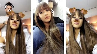 Ariana grande in makeup session | Snapchat