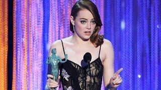 Emma Stone Wins Best Actress For La La Land At 2017 SAG Awards