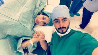 شاهد لحظة ولادة الدكتورة خلود بحضور زوجها امين وظهور ابنتها