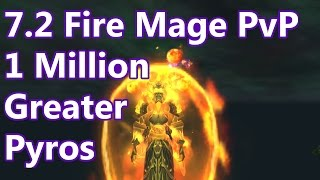 WoW - 7.2 Fire Mage PvP - 1 Million Greater Pyroblasts - Battleground w/Commentary