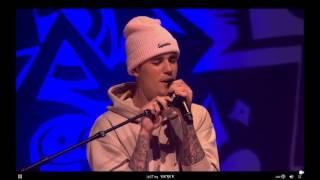 Justin Bieber performing ''PURPOSE