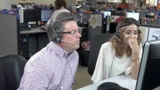 Chuck Harris Visits Call Center
