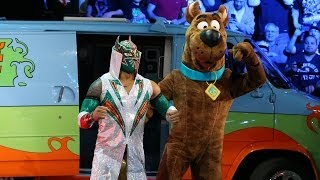 Sin Cara with Scooby-Doo by his side battles Damien Sandow: Raw, March 24, 2014