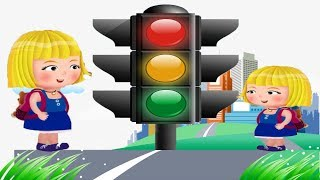 Twinkle Traffic Light Song | Nursery Rhymes & Baby Songs for Kids | Cartoons for children