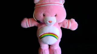 CARE BEARS~FIT N FUN~PINK PLUSH & RAINBOW~CHEER BEAR~TALKING~SINGING~EXERCISES~2004