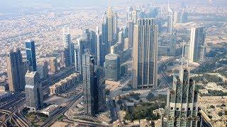 Dubai vom 124 Stockwerk des Burj Khalifa at the top Burj Dubai Khalifa Tower Skyscraper  برج خليف