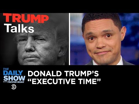 Trump's Leaked Private Schedule Causes a Stir The Daily Show