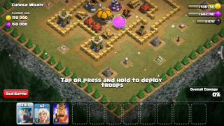 clash of clan fight using ice wizard