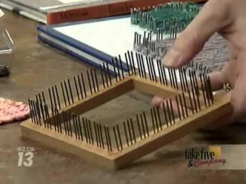 CraftSanity on TV Making loom out of book and nails