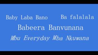 Nyongera  Lyrics video  - B2C  TmX Urban