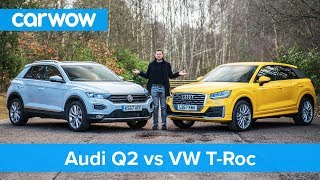 VW T-Roc vs Audi Q2 review - which is best?   carwow