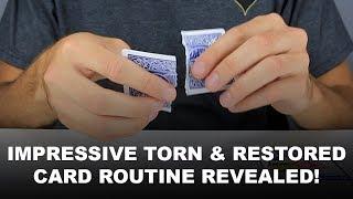 """Torn Apart"" - Impressive Torn & Restored Card Trick (2018) - Magic Tricks REVEALED"