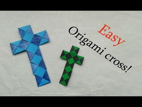 Easy Origami Paperstrip Cross (Tutorial)