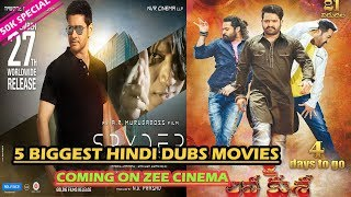 Top 5 South Indian Biggest Hindi Dubbed Movies Coming on Zee Cinema | The Topic