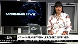 Cash-in-transit vehicle robbed in Vryheid