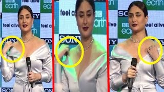 Omg !! Bollywood Hot Actress Kareena Kapoor Caught Adjusting Her Dress In Event ||