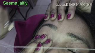 How to Shape Eyebrows/ Threading Eyebrows full Tutorial Seema jaitly