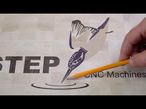CNC-STEP logo board