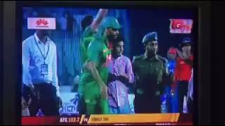 Download Ban vs Afg - crazy Fan came inside the field and hug Masrafee 3Gp Mp4