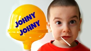 Johny Johny Yes Papa LEARN COLORS with Giant Lollipop & Happy Baby - Simple Songs For Children