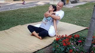 Yoga stretch massage