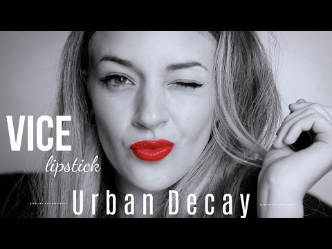 15 SWATCHES LIPSTICK Vice Urban Decay ! En musique ♫ !