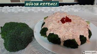 Yoğurtlu Kırmızı Biber Soslu Brokoli Salata Tarifi - Hülya Ketenci - Salata Tarifleri