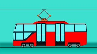 Tram | Uses Formation And Uses | Videos For Kids | Heavy Vehicles For Childrens