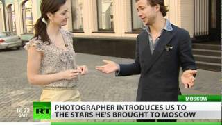 Italian photographer introduces us to entourage of celebrities he's brought to Moscow.