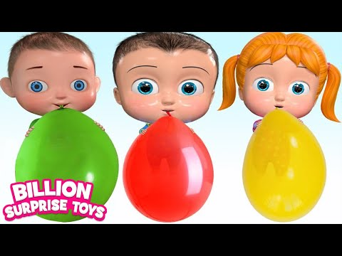 Xxx Mp4 Balloon Family Song Babies Colorful Balloons Nursery Rhymes Kids Songs 3gp Sex