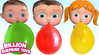 Colorful Balloon  | BillionSurpriseToys Nursery Rhyme & Kids Songs