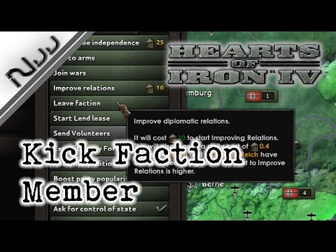 Hearts of Iron 4 Guide - How to Remove / Kick Faction Member / Dismantle Faction