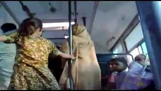 Desi aunties fighting in bus and reveling the