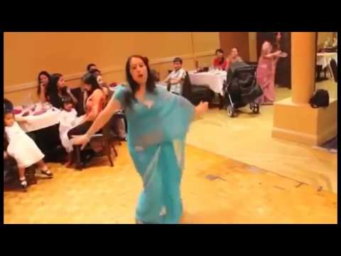 Indian Aunty Belly dance While party