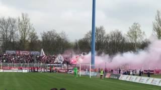 BFC Dynamo Pyro bei Lokomotive Leipzig