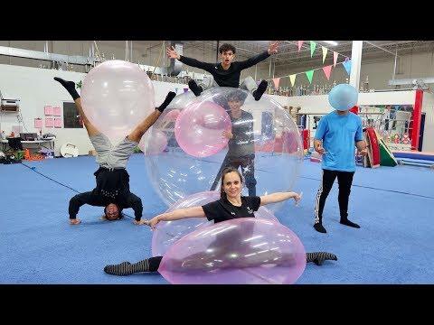 GYMNASTICS INSIDE WUBBLE BUBBLE BALL