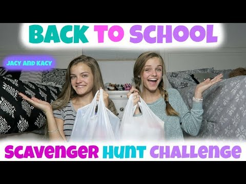 Back to School 2017 School Supplies Target Scavenger Hunt Challenge Jacy and Kacy