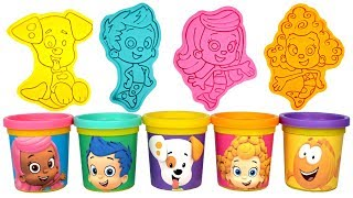 Bubble Guppies Play Doh Molds Learn Colors with Molly Gil Bubble Puppy Deema Mr Grouper