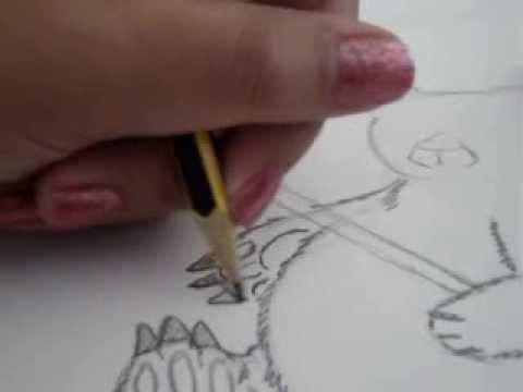 como dibujar un oso panda a mano alzada. ;D
