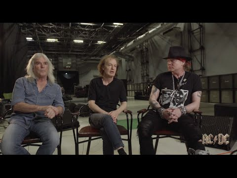 Angus & Cliff on Brian, Axl pays tribute ‪#‎RockOrBust‬