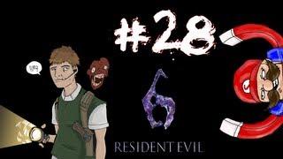 Residential Evil - Resident Evil 6 Prelude/Leon Campaign Walkthrough / Gameplay Part 28 - Leon Vs. Chris