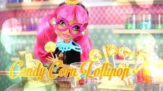 DIY - How to Make:  Doll Candy Corn Lollipop - Handmade - Doll - Crafts